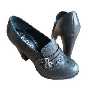 JEFFREY CAMPBELL Dark Green chunky 4 inch heels 38